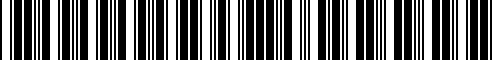 Barcode for 999B1-R4000